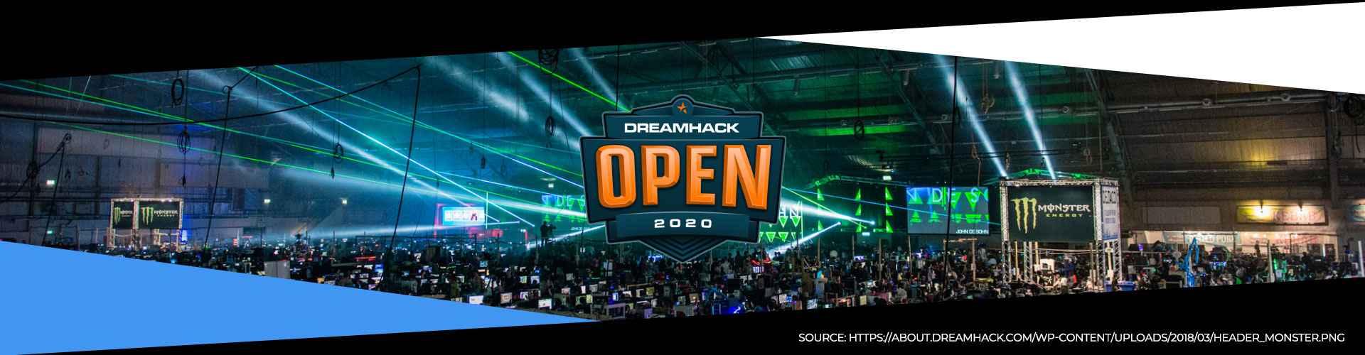Eventsida för DreamHack Open Anaheim.