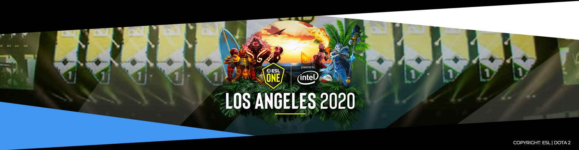 Eventsida för ESL One Los Angeles.