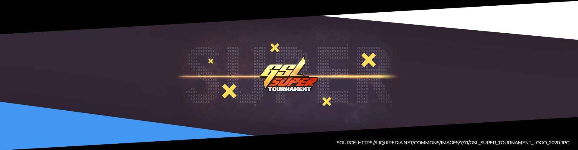Eventsida för GSL Super Tournament 1 för Starcraft 2.