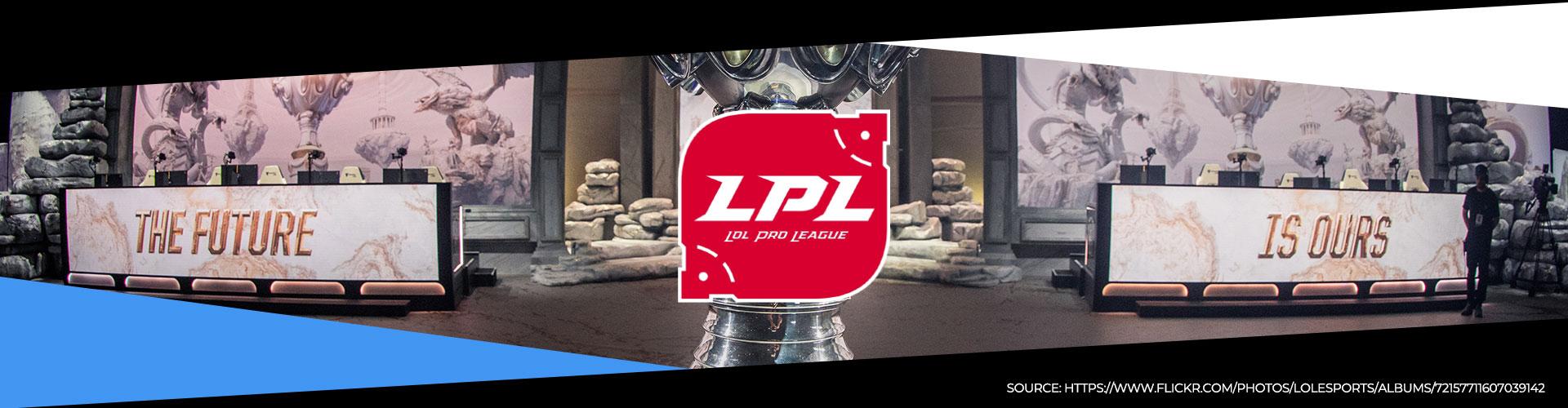 Eventsida för vårsäsongen i den kinesiska LPL-ligan.