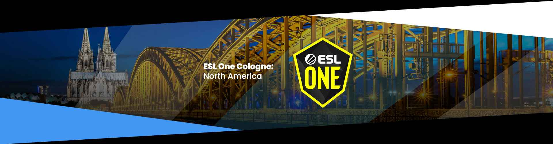Tournament page for ESL One Cologne Online: North America.