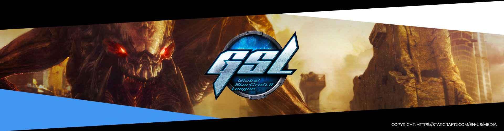 Eventsida för GSL Code S Säsong 2 för StarCraft 2.