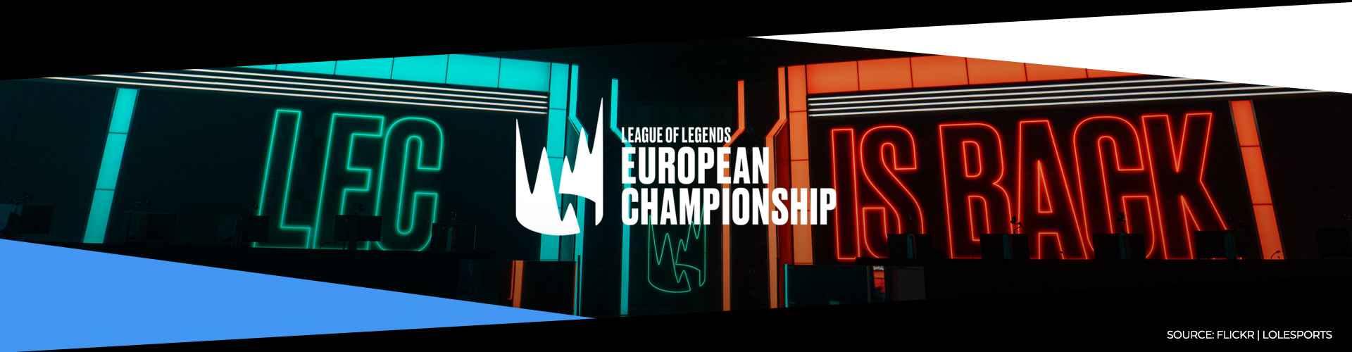 Eventsida för LEC och dess sommarsäsong 2020.