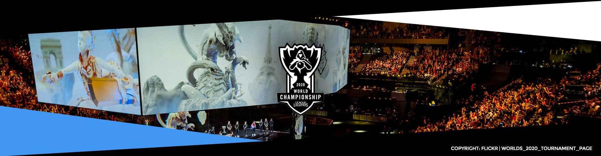 Eventsida för Worlds 2020, världsmästerskapet i League of Legends.