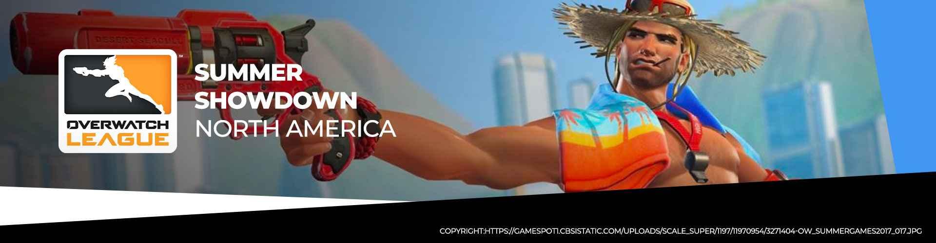 Turneringssida för OWL Summer Showdown 2020 Nordamerika.