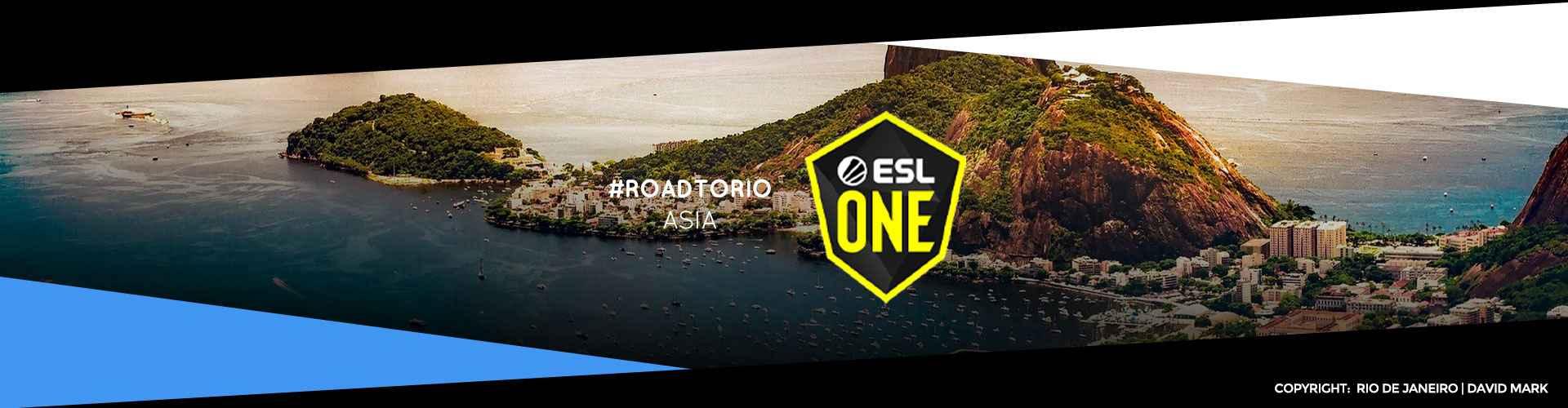Eventsida för asiatiska ESL One: Road to Rio