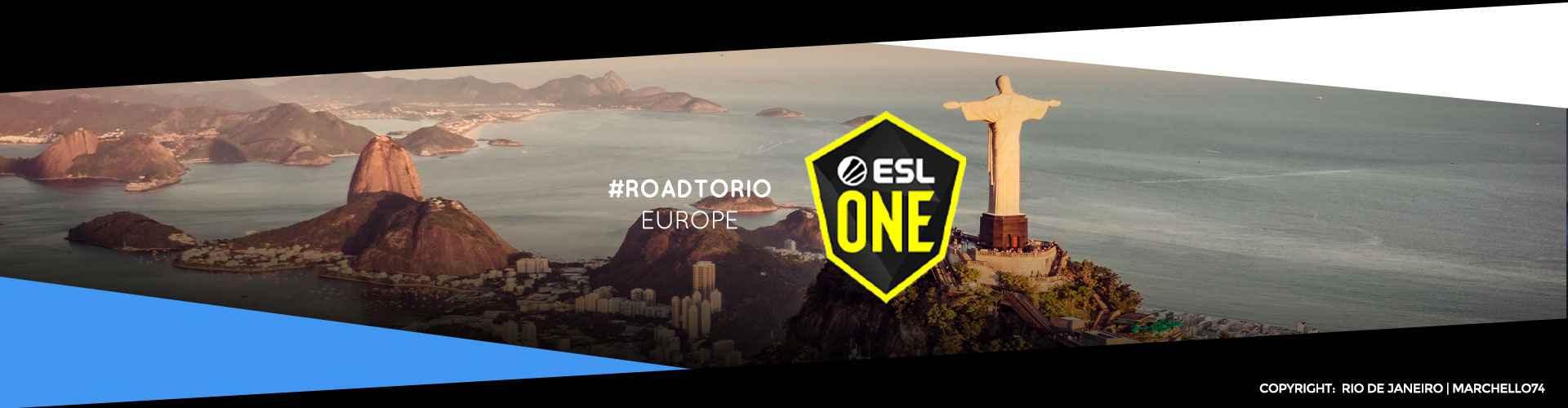 Eventsida för europas ESL One: Road to Rio
