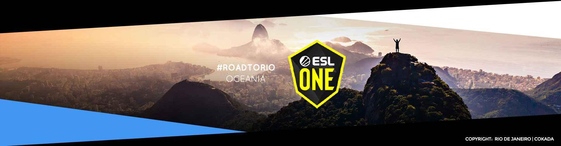 Eventsida för oceaniska ESL One: Road to Rio