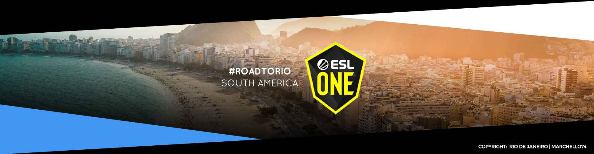 Eventsida för sydamerikanska ESL One: Road to Rio