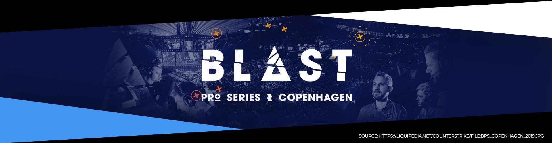 Eventsida för BLAST Pro Series Copenhagen.
