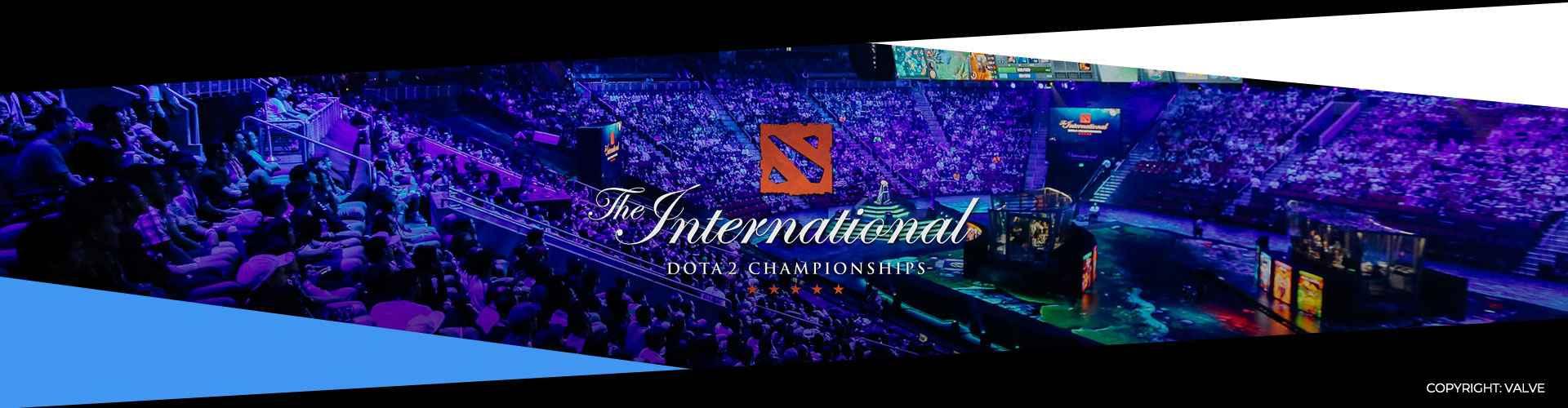 Eventsida om The International 9. Lagen, prispotten och formatet.