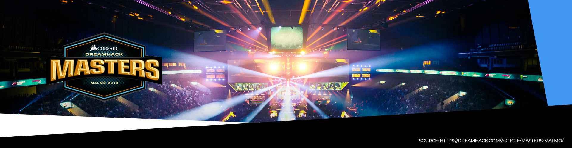 Eventsida för DreamHack Masters som anordnas i Malmö.