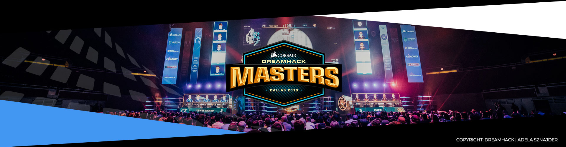 Eventsida för Dreamhack Masters Dallas som spelas i Maj 2019