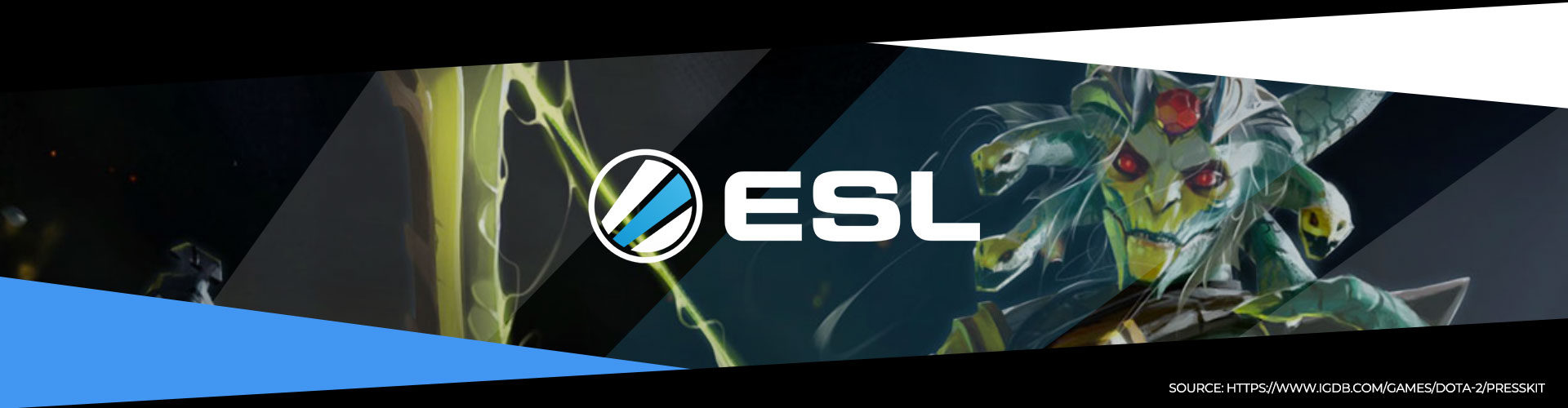 Eventsida för ESL One Hamburg med information om lagen, prispotten och formatet.
