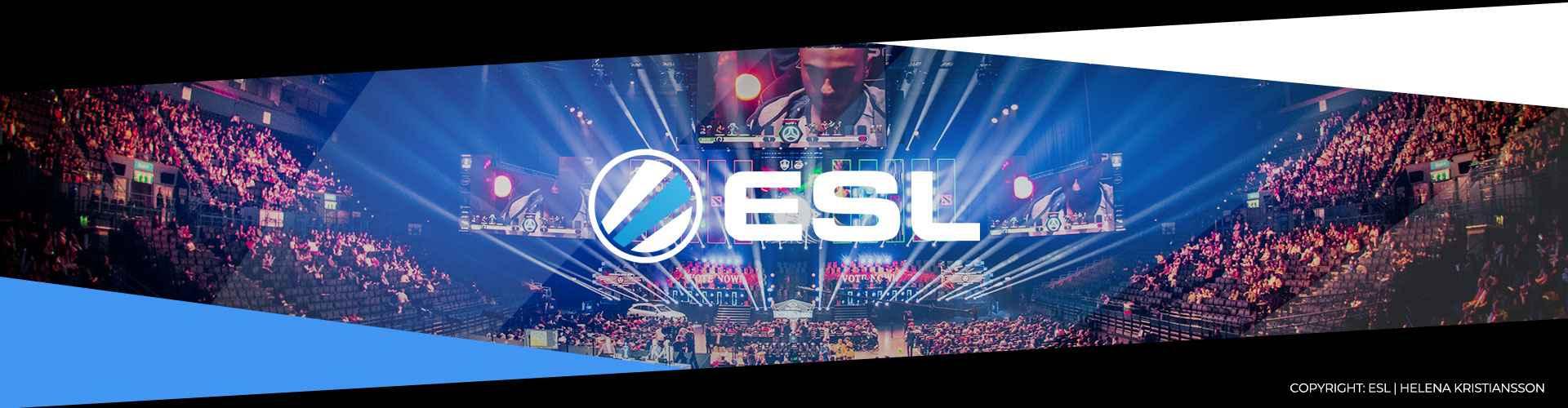 Eventsida för ESL One Birmingham som spelades i Maj 2019.
