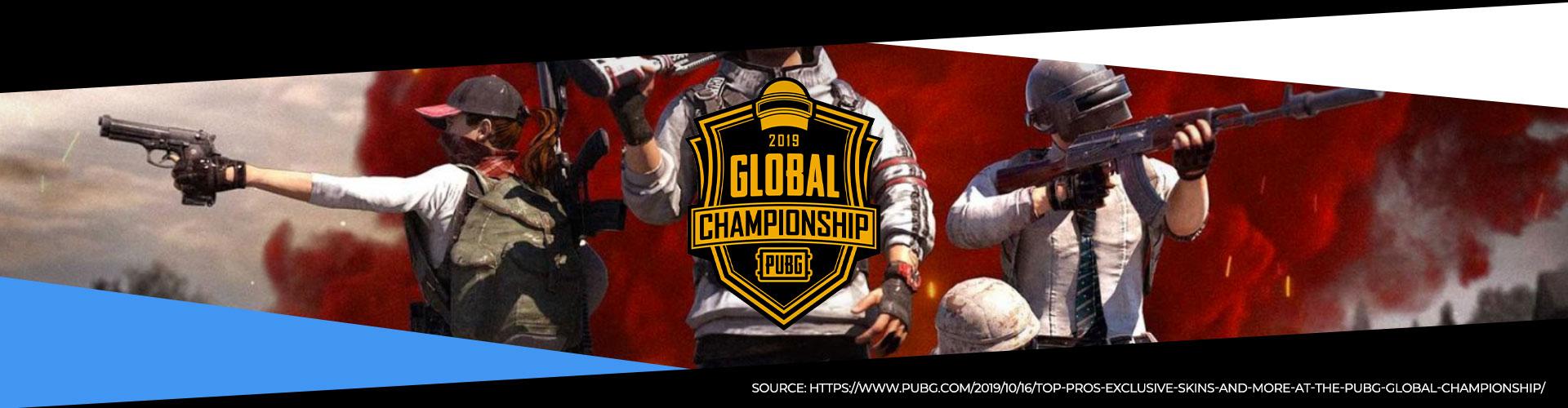 Detta är en eventsida för Världsmästerskapet i PUBG, Global Championship.