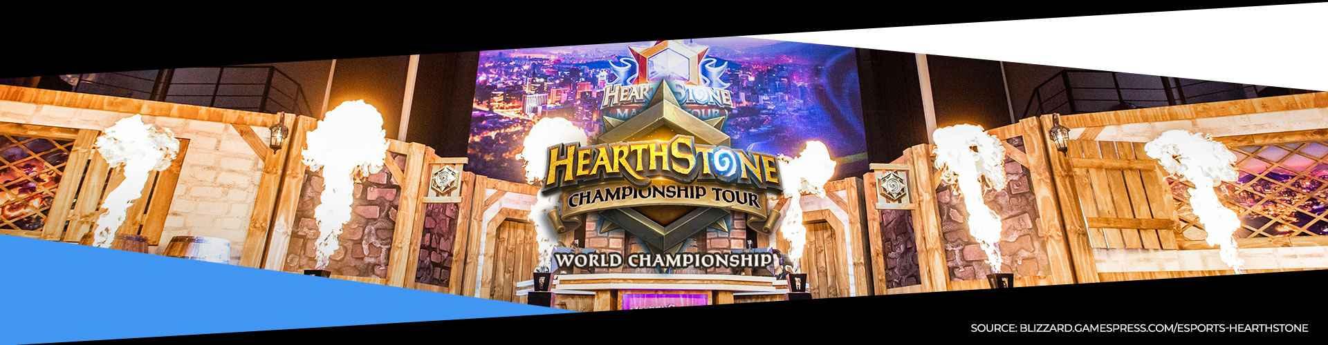 Eventsida för Hearthstone World Championship 2019, som är spelets världsmästerskap.