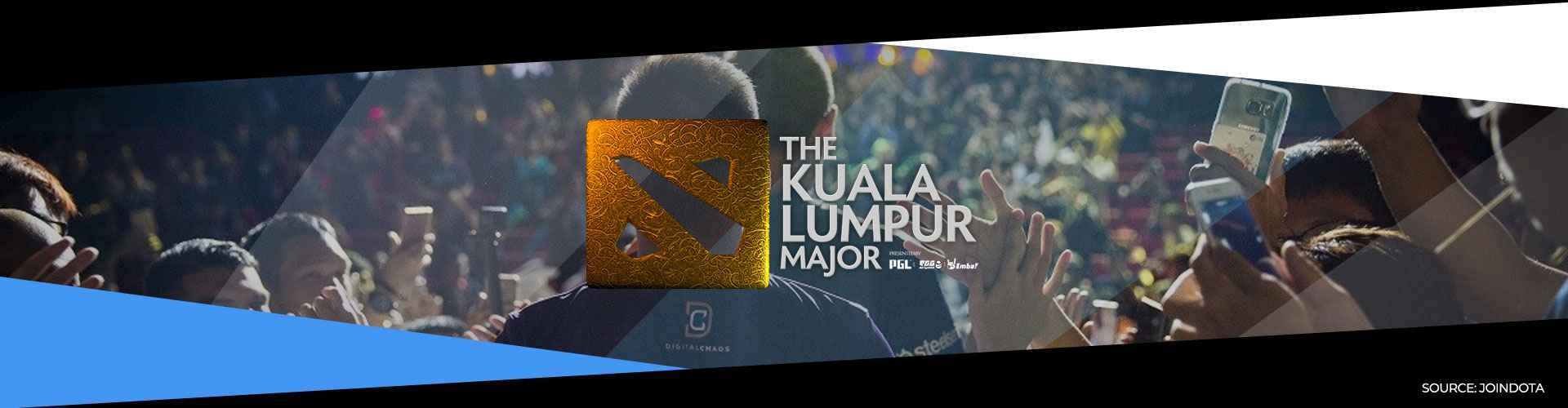 Eventsida om Kuala Lumpur Major och hur turneringen utspelade sig.