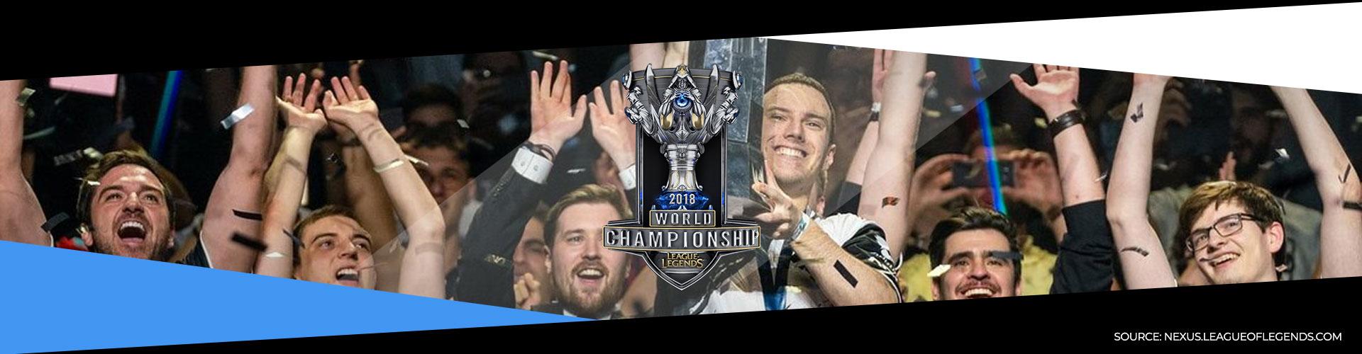 Eventsida för världsmästerskapet i League of Legens, kallat Worlds.