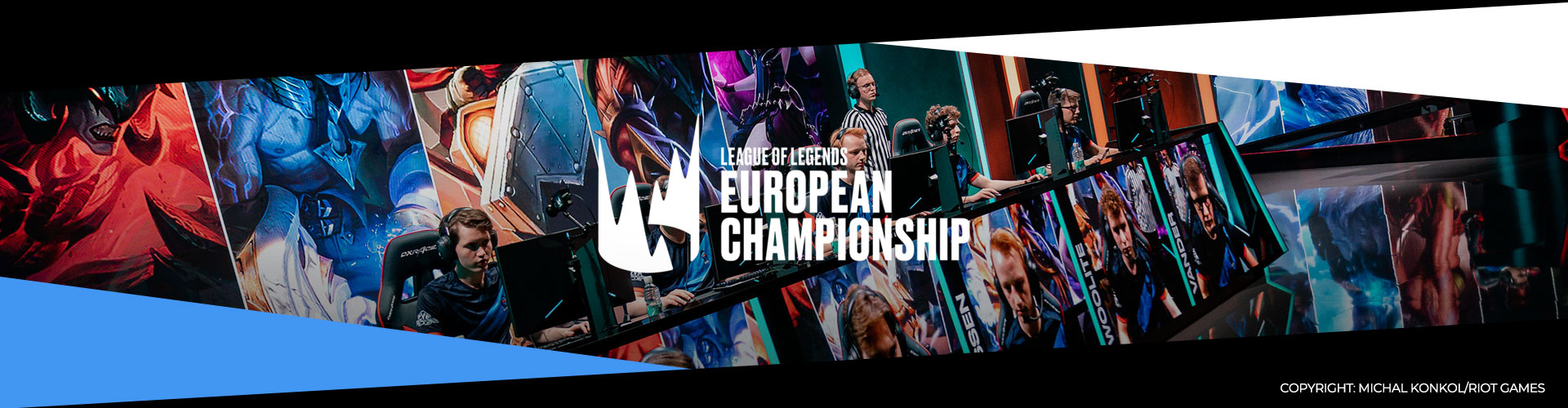 Eventsida för vårfinalerna av League of Legends European Championship.