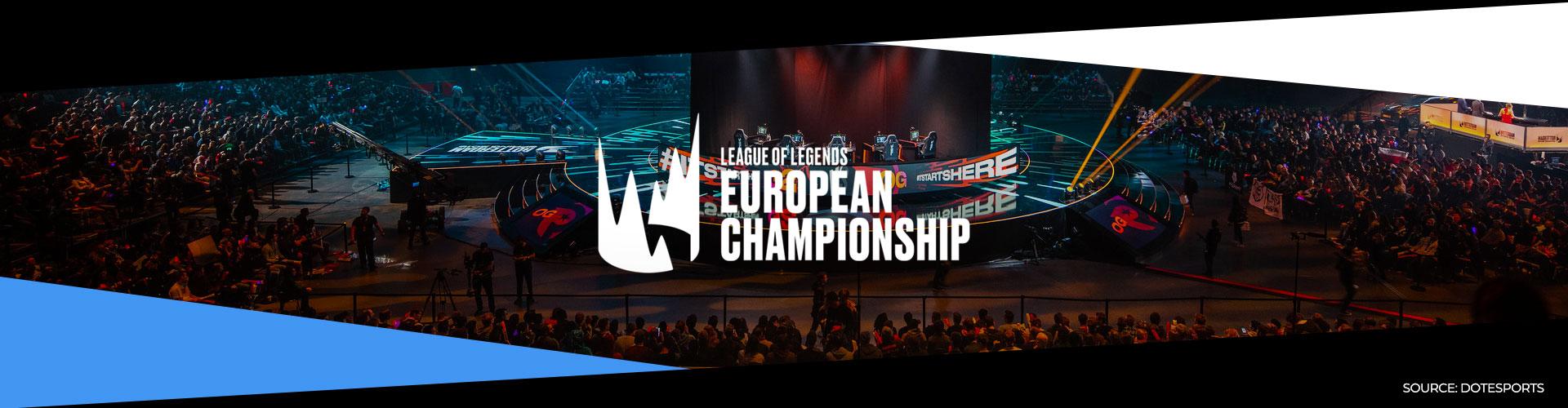 Eventsida för League of Legends sommarsäsong i LEC.