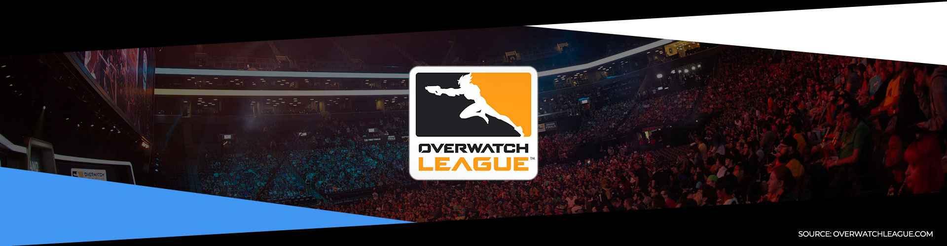 Eventsida för Overwatch Leagues första säsong och dess slutspel.